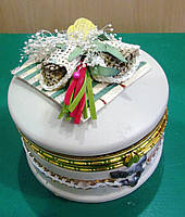 Шкатулка круглая для украшений, фото 1