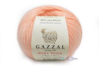 Gazzal Baby Wool, Персиковый №834