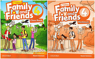 Family and friends 4 (2-edition) Комплект (Учебник + Тетрадь) Ч\Б Копия!