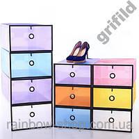 Органайзер контейнер для обуви и мелочей White