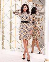 Красивое женское платье-рубашка с поясом СЕР256, фото 1