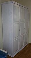 """Шкаф """"Зевс"""" белый с фасадами из ясеня"""