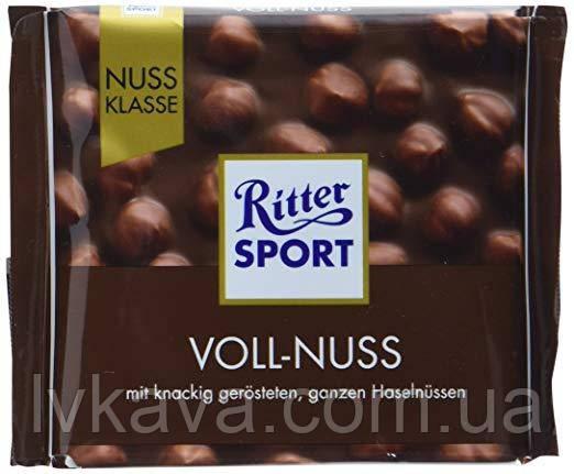 Молочный шоколад  Ritter Sport Voll-Nus , 100 гр