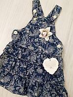 Детский джинсовый сарафан  размер 9- 12 месяцев (Турция)