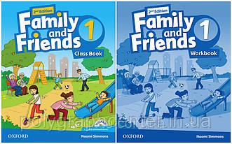 Family and friends 1 (2-edition) Комплект (Учебник + Тетрадь) Ч\Б Копия!