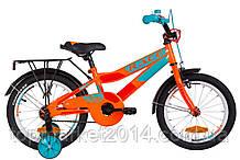 """Дитячий велосипед з багажником FORMULA RACE CR 16"""" (оранжево-бірюзовий)"""