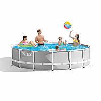 Каркасный круглый бассейн INTEX (26710) без фильтр-насоса диаметр 366 см, высота 76 см