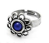 Кольцо Романия Этюд с синим камнем
