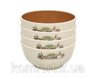 Набор детских тарелок с ложечками Bobby Rabbit 10,4х3,7см, фото 2