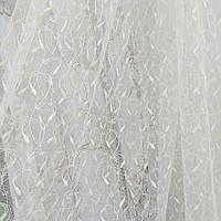 Тюль занавески Турция на фатине ширина 190 см сублимация 1354-золото, фото 1