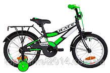 "Дитячий велосипед з багажником FORMULA RACE CR 16"" (чорно-салатний)"