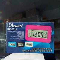 Часы электронные кк-2616 с термометром и подсветкой
