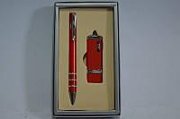 Набор подарочный женская ручка+флешка красная 13110