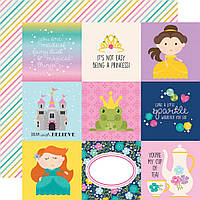 Папір двосторонній - 10х10 Elements - Little Princess - Simple Stories - 30x30