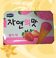 Вафельний десерт, з полуничною начинкою, Корея, 12шт / уп, ство