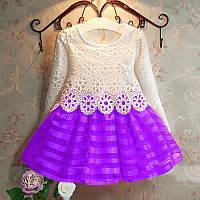 Красивое платье с кружевом  размер 98., фото 1