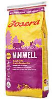 Сухой корм для взрослых собак мелких пород весом до 10 кг Josera Miniwell (Йозера Минивель) с птицей и рисом