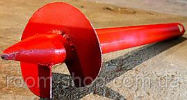 Винтовые сваи (гвинтові палі) диаметром 108 мм., длиною 2 метра, фото 2