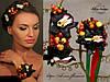 """""""Чёрные орхидеи"""" (ободок и браслет) из полимерной глины."""