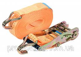 Ремень для крепления груза с трещоткой VOREL 1500/3000 daN 10 м х 50 мм 2 шт