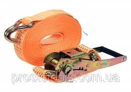 Ремень для крепления груза с трещоткой VOREL 2500/5000 daN 8 м х 50 мм 2 шт