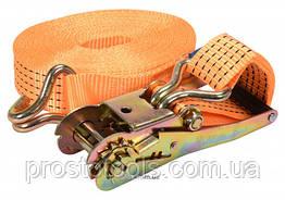 Ремень для крепления груза с трещоткой VOREL 2500/5000 daN 10 м х 50 мм 2 шт