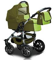 Универсальная детская коляска 2 в 1 Trans baby Jumper, оливка+салат