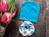 Весняний комплект шапка хомут для хлопчика
