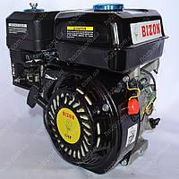 Двигатель бензиновый BIZON GX 220 170F черный 7.5 л.с. вал 20 мм шпонка
