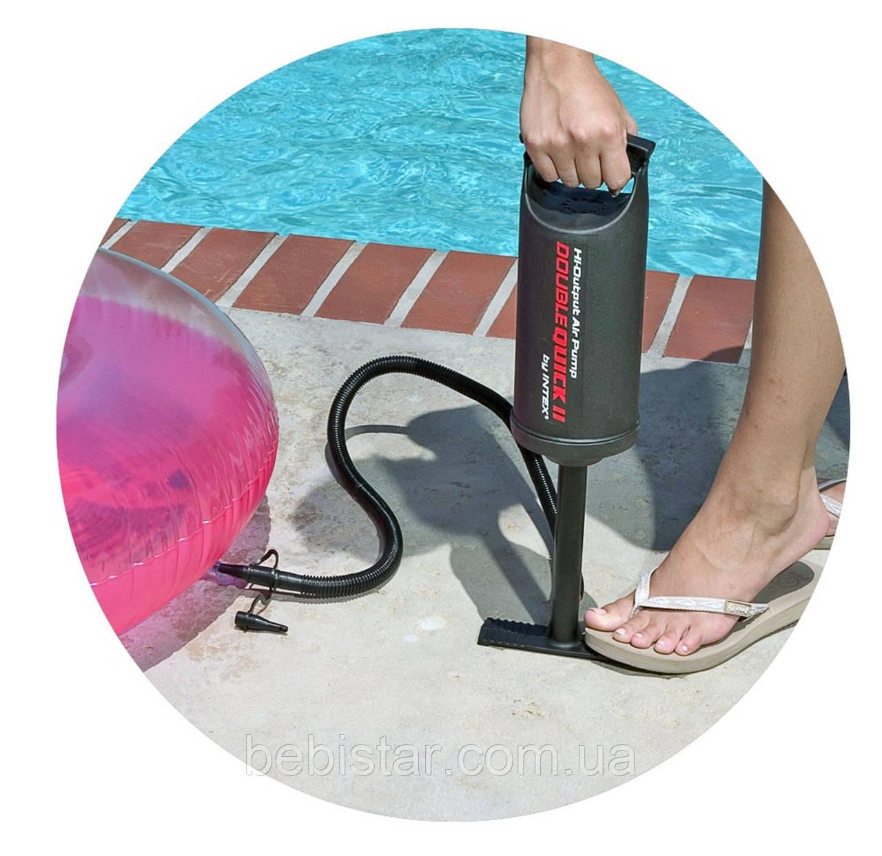 Ручной насос Intex 30 см для накачивания небольших бассейнов, надувных кроватей, детских игрушек и мячей