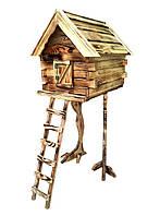 Декоративный домик на куриных ножках для сада 90х35х45 см Сосна/Дуб