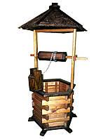 Декоративный колодец для сада 100х55х55 см Сосна/Дуб