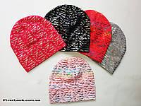 Детская трикотажная шапка на девочку (7-12 лет)