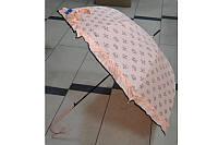 Зонт трость с рюшами сердечки цветочки 188