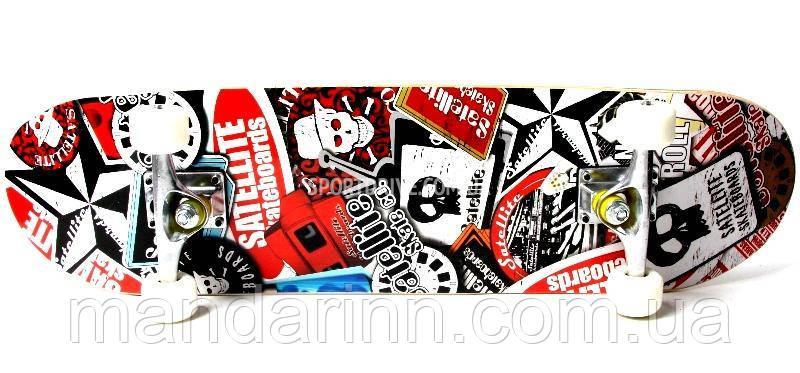 "СкейтБорд, Скейт Оригинал Клен ""Satellite""  до 85 кг"