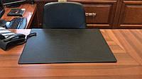 Подложка на стол Вермонт Экокожа гладкая 400 х 600 мм чёрная (бювар)