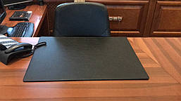 Подложка на стол Вермонт Экокожа 400 х 600 мм чёрная