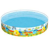 Бассейн детский круглый надувной Bestway 55001