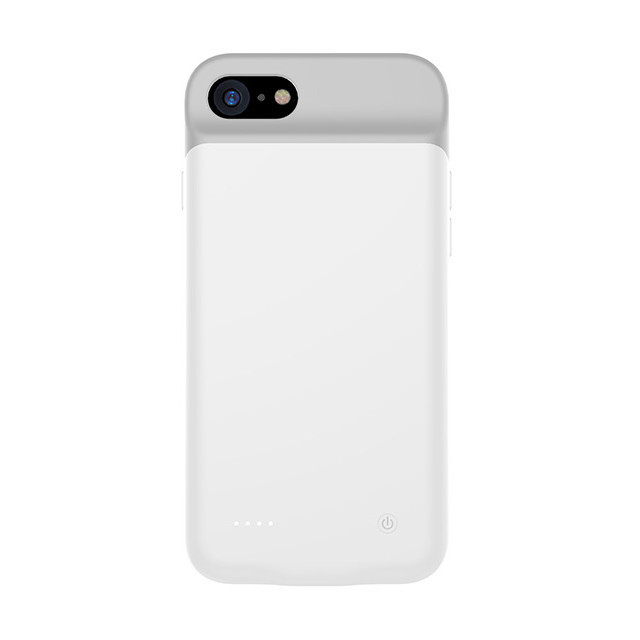 Чехол аккумулятор AmaCase для iPhone 8 Белый (3000 мАч)