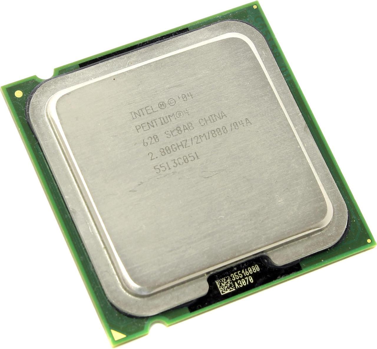 Процессор Intel Pentium 4 620 2.80GHz/2M/800 (SL8AB) s775, tray