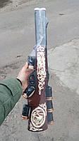 Штоф ружье, бутылка в виде ружья + 6 стопок