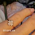 Золотое кольцо на мизинец  Счастливый Клевер, фото 8
