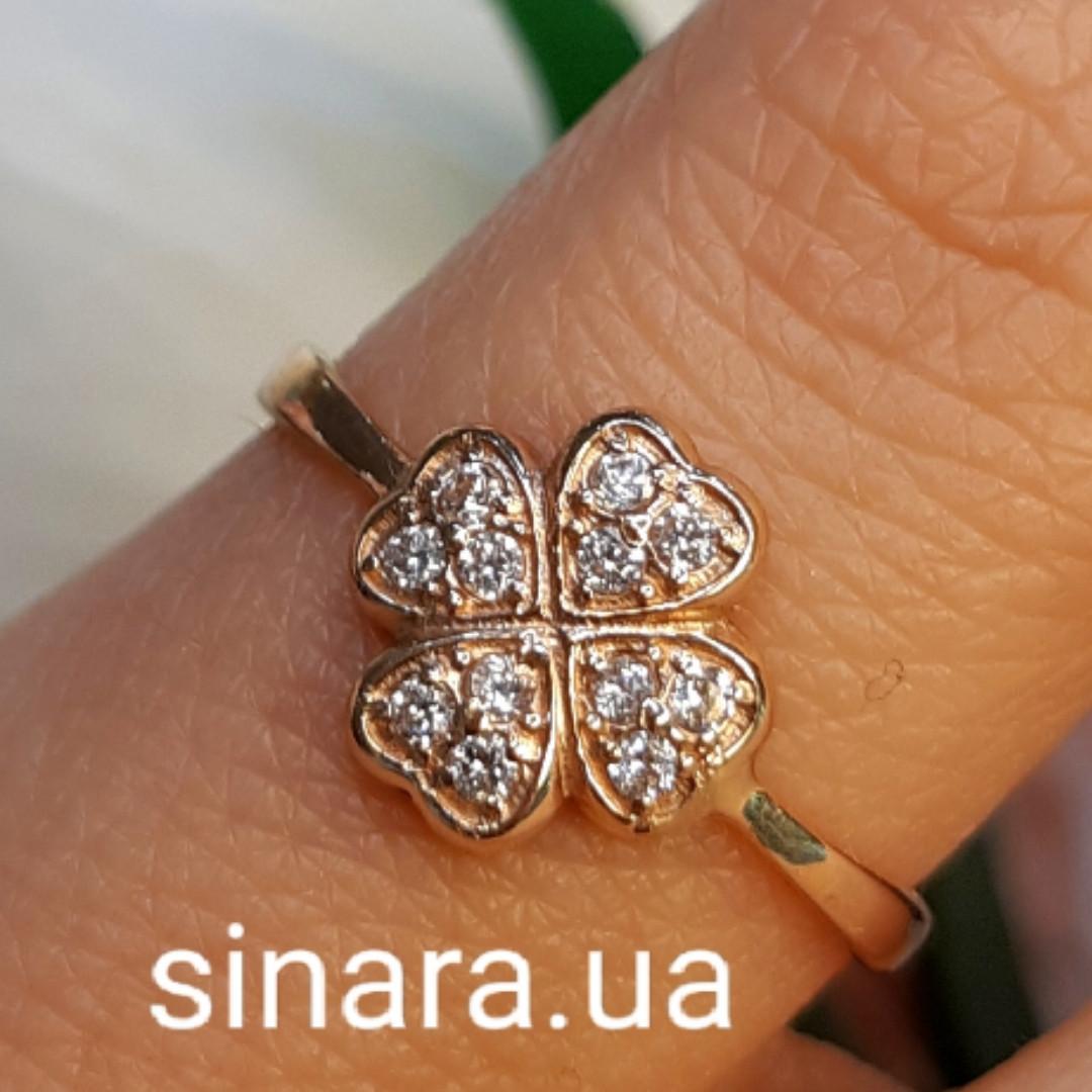 Золотое кольцо на мизинец  Счастливый Клевер