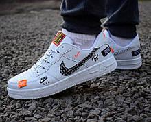 "Кроссовки  43,44 размеры  Nike Air Force 1 high ""just do it"" white М0088"