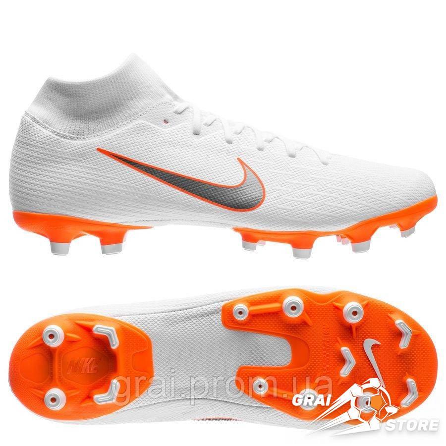 the latest 00b0e 36a1e Бутсы Nike Mercurial Superfly VI Academy MG White/Orange
