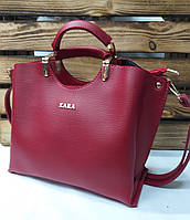 Женская сумка из эко-кожи Zara, с короткими ручками, без подклада, плечевой ремень, три отдела