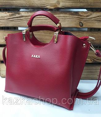 b3b107395c96 Женская сумка из эко-кожи Zara, с короткими ручками, без подклада, плечевой