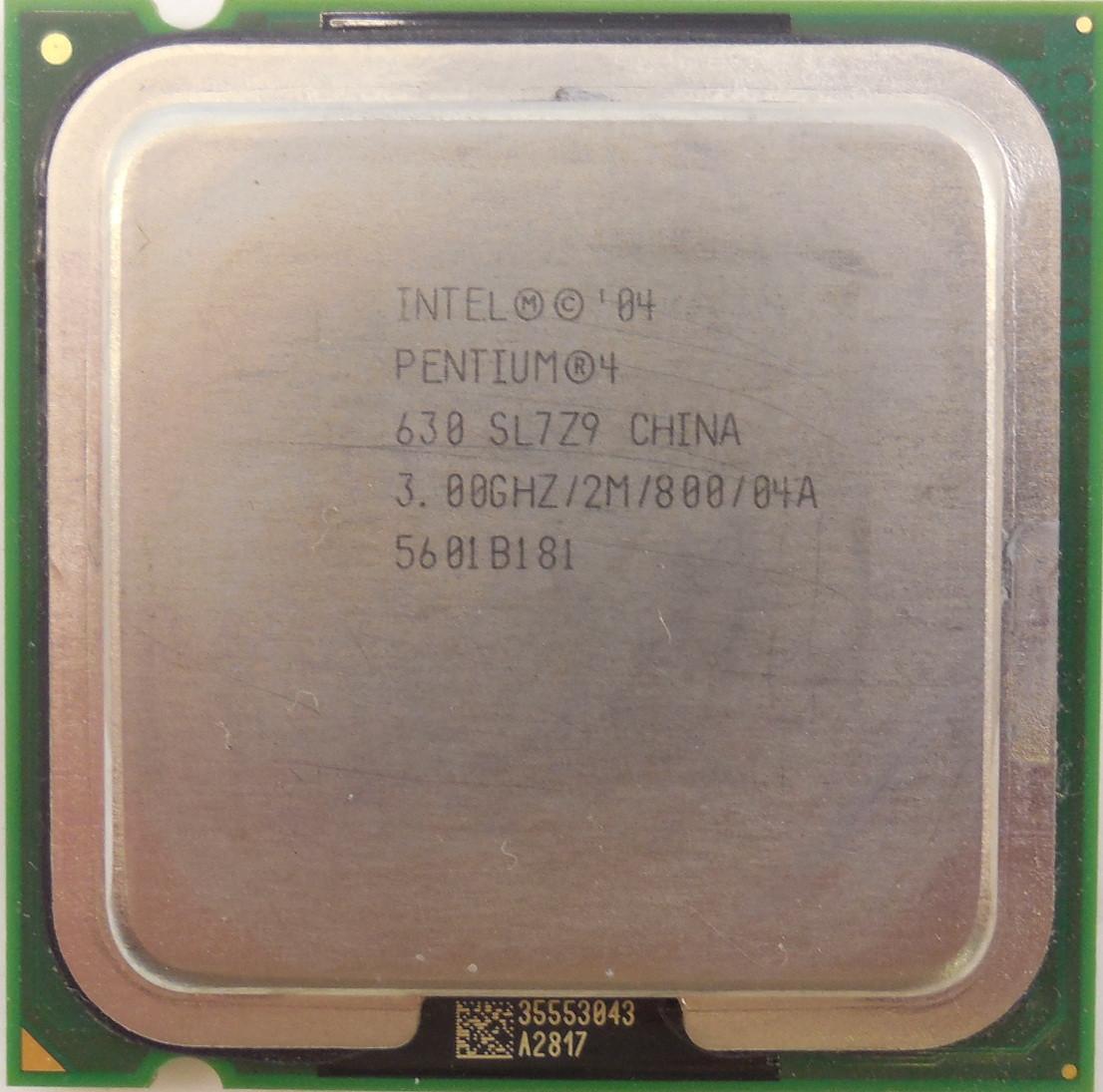 Процессор Intel Pentium 4 630 3.00GHz/2M/800 (SL7Z9) s775, tray