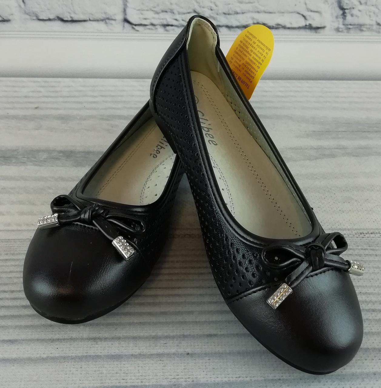 Балетки для девочек Черные Clibee Румыния