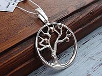 """подвес """"Дерево"""" подвеска кулон серебро женская украшения Серебряная"""